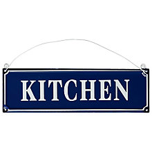 Buy Kitchen Hanging Metal Sign Online at johnlewis.com