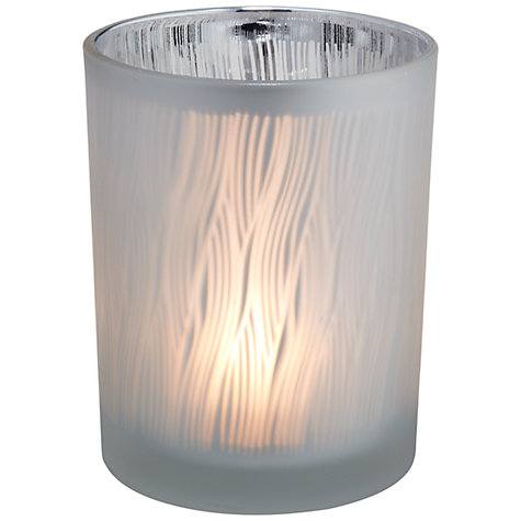 Buy John Lewis Reed Design Candle Holder, Silver, Large Online at johnlewis.com