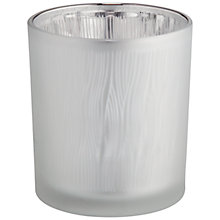 Buy John Lewis Reed Design Candle Holder, Silver, Small Online at johnlewis.com