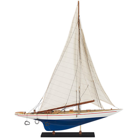 Buy John Lewis Shamrock Decorative Boat, Blue, W70cm Online at johnlewis.com