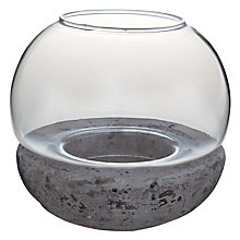 Buy John Lewis Stone Base Tealight Holder Online at johnlewis.com