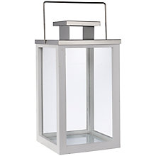 Buy John Lewis White and Silver Lantern Tealight Holder, Large Online at johnlewis.com