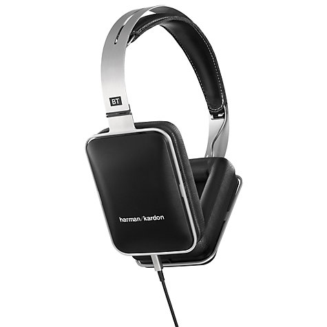 Buy Harman Kardon BT Wireless Full Size Headphones with Microphone, Black/Silver Online at johnlewis.com