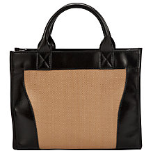 Buy John Lewis Handheld Straw Bag, Natural Online at johnlewis.com