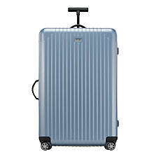 Buy Rimowa Salsa Air 4-Wheel Large Spinner Suitcase, Ice Blue Online at johnlewis.com