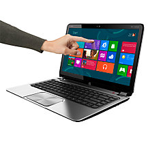 "Buy HP ENVY TouchSmart 4-1103EA Ultrabook, Intel Core i5 Processor 1.7GHz, 8GB RAM, 500GB+32GB SSD, 14"" Touch Screen Online at johnlewis.com"