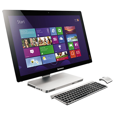 "Buy Lenovo Idea Centre A720 All-in-One Desktop PC, Intel Core i7, 2.4GHz, 8GB RAM, 1TB, Blu-ray, 27"" Touch Screen Online at johnlewis.com"