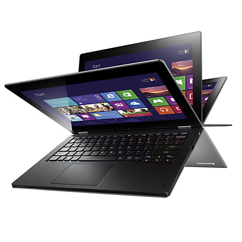 "Buy Lenovo Yoga Convertible Laptop, 64GB, Wi-Fi, Quad-Core Tegra 3, 11.6"", Touch Screen, Silver Online at johnlewis.com"