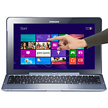 "Buy Samsung XE500T1C-A01 Convertible Laptop, Intel Atom, 2GB RAM, 64GB SSD, 11.6"" Touch Screen, SilverBlue Online at johnlewis.com"