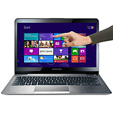 "Buy Samsung NP540U3C-A01 Ultrabook, Intel Core i5, 1.7GHz, 6GB RAM, 500GB, 13.3"" Touch Screen, Silver Online at johnlewis.com"