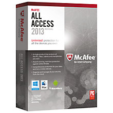Buy McAfee All Access 2013, Multiple Device Pack Online at johnlewis.com