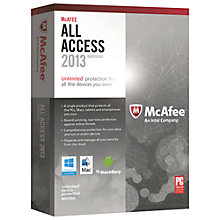 Buy McAfee All Access 2013, 1 User Pack Online at johnlewis.com