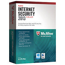 Buy McAfee Internet Security for Mac 2013, 1 User Pack Online at johnlewis.com