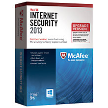 Buy McAfee Internet Security 2013 Online at johnlewis.com