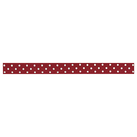 Buy East of India Ribbon, Polka Dots, Red/Cream, 3m Online at johnlewis.com