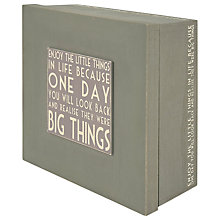 Buy East of India Enjoy Keepsake Box, Grey Online at johnlewis.com