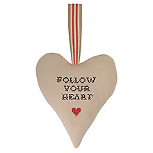 Buy East of India Heart Pin Cushion, Cream Online at johnlewis.com