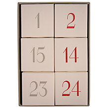 Buy East of India Hanging Advent Cubes Online at johnlewis.com