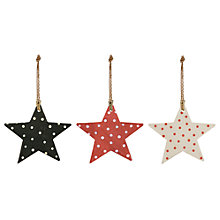 Buy East of India Spotted Stars, Pack of 3, Multi Online at johnlewis.com