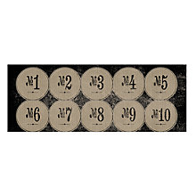 Buy East of India Number Stickers, Pack of 40, Cream Online at johnlewis.com