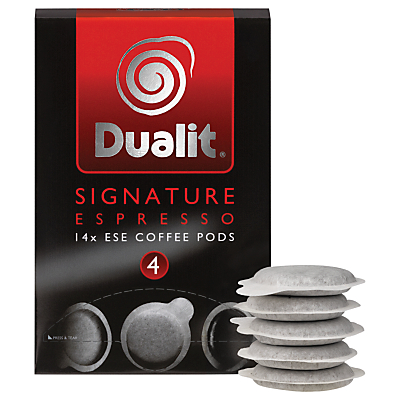 Dualit 15110 Signature Espresso ESE Pods, Pack of 14