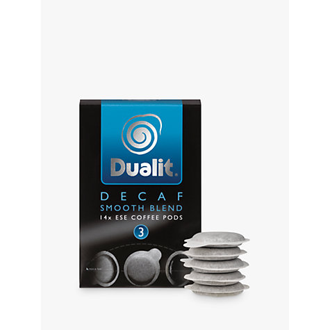 Buy Dualit 15140 Smooth Decaf ESE Pods, Pack of 14 Online at johnlewis.com