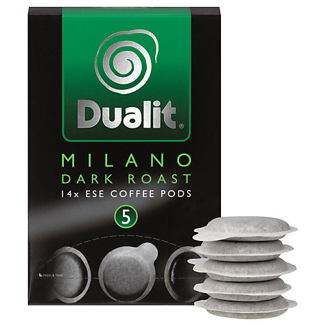 Buy Dualit 15131 Milano Dark Roast Pods, Pack of 50 Online at johnlewis.com
