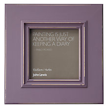 "Buy John Lewis New Distressed Photo Frame, Wisteria, 4 x 4"" (10 x 10cm) Online at johnlewis.com"