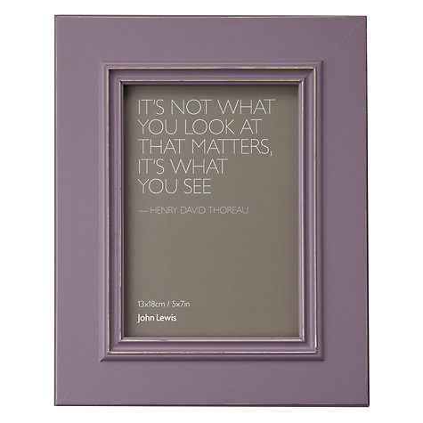 "Buy John Lewis New Distressed Photo Frame, Wisteria, 5 x 7"" (13 x 18cm) Online at johnlewis.com"