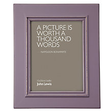 "Buy John Lewis New Distressed Photo Frame, Wisteria, 6 x 8"" (15 x 21cm) Online at johnlewis.com"