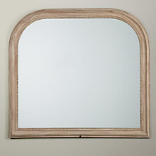 Buy John Lewis Distressed Overmantel Mirror, Taupe, 104 x 95cm Online at johnlewis.com