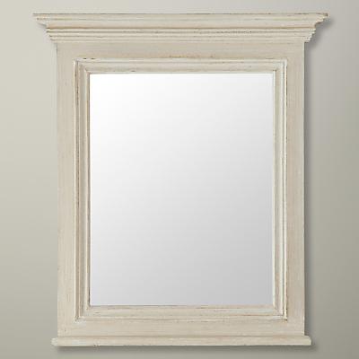 John Lewis Distressed Mirror, Cream, 63.5 x 50cm