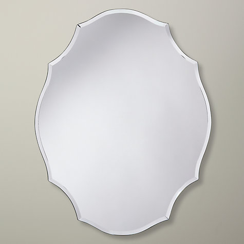 Buy John Lewis Oval Scallop Mirror, 46 x 35.5cm Online at johnlewis.com