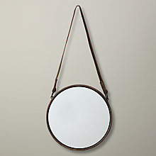 Buy John Lewis Round Hanging Mirror, Matt Copper, Dia.23cm Online at johnlewis.com