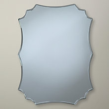 Buy John Lewis Squared Scallop Mirror, 25 x 18cm Online at johnlewis.com