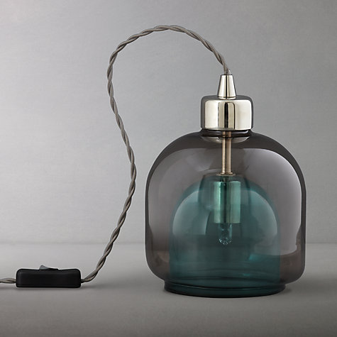 Buy John Lewis Ambience Layer Glass Lamp, Teal Online at johnlewis.com