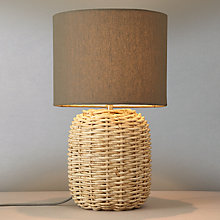 Buy John Lewis Branning Basket Weave Table Lamp, Grey Online at johnlewis.com