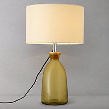 Buy John Lewis Catrin Glass Table Lamp, Green Online at johnlewis.com