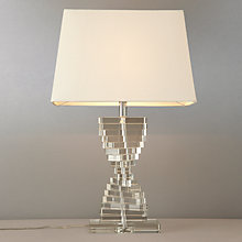 Buy John Lewis Diana Glass Steps Table Lamp Online at johnlewis.com