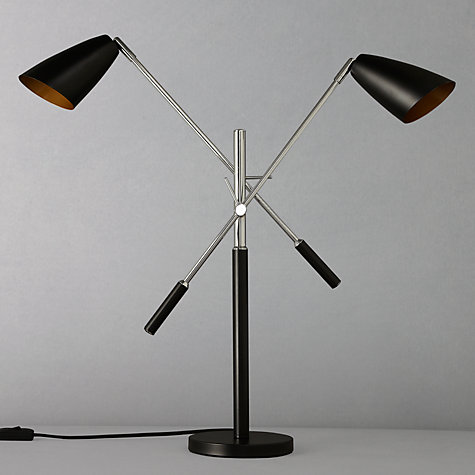 Buy John Lewis Rhys Retro Double Head Table Lamp Online at johnlewis.com