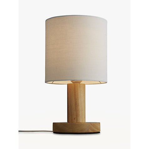Buy John Lewis Slater Wood Touch Table Lamp Online at johnlewis.com