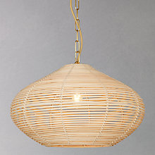 Buy John Lewis Easy-to-fit Belle Bamboo Ceiling Shade, Dia.40.5cm Online at johnlewis.com