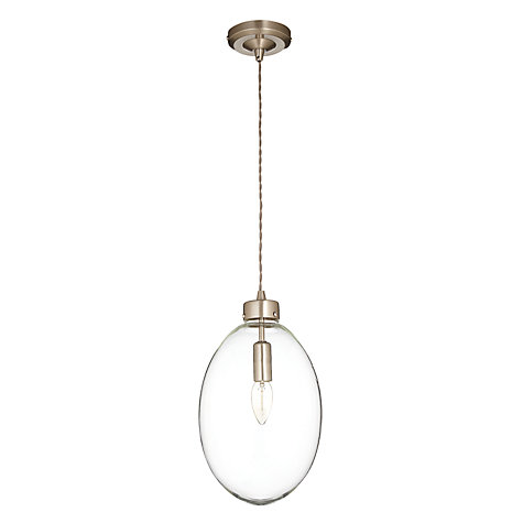 Buy John Lewis Bradley Oval Glass Pendant Online at johnlewis.com