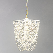 Buy John Lewis Charlotte Hex Crystal Basket Pendant Online at johnlewis.com