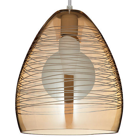 Buy John Lewis Easy-to-fit Corina Shade, Gold, Dia.23cm Online at johnlewis.com