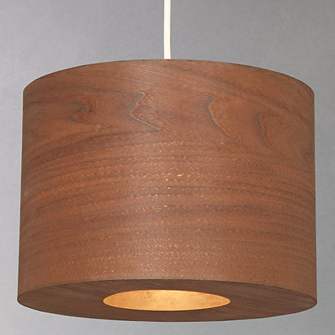 Buy John Lewis Easy-to-fit Harry Walnut Shade, Dia.35cm Online at johnlewis.com