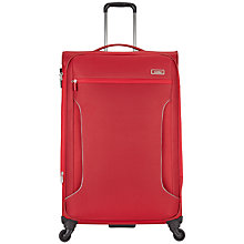 Buy Antler Cyberlite 4-Wheel Large Spinner Suitcase, Red Online at johnlewis.com