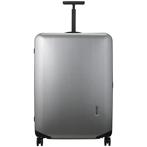 Buy Samsonite Inova 4-Wheel Extra Large Spinner Suitcase, Silver Online at johnlewis.com