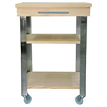Buy John Lewis Beech Butcher's Trolley Online at johnlewis.com