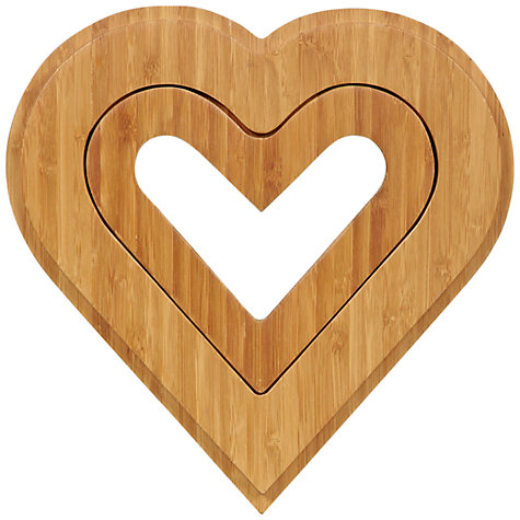 Buy John Lewis Bamboo Heart Shaped Trivets, Set of 2 Online at johnlewis.com